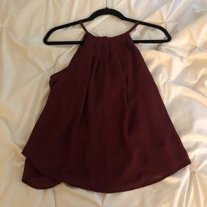 Francesca's burgundy high neck tank